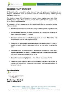 CDM 2015 Regulations Policy