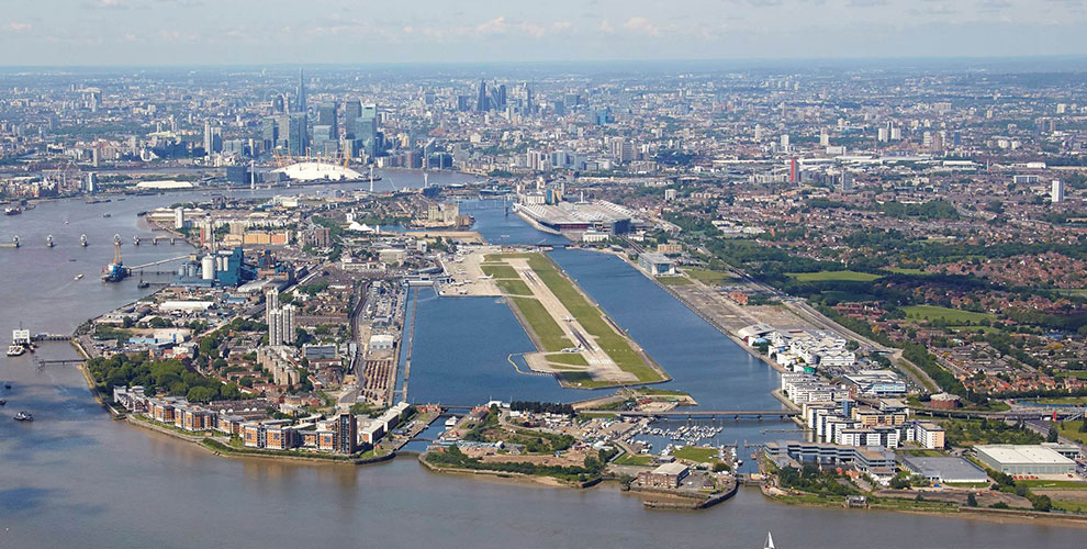 London City Airport - aerial
